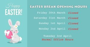 DentArana Easter Break Opening Hours Banner