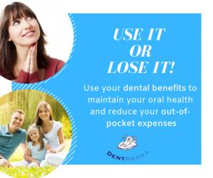 DentArana use it or lose it banner dentist arana hills