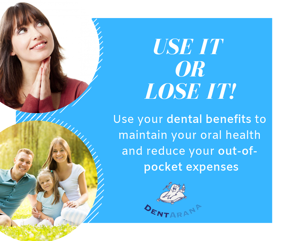 DentArana use it or lose it banner dentist arana hills